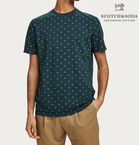 スコッチ&ソーダ SCOTCH&SODA 半袖 Tシャツ クルーネック 総柄 Tシャツ 292-14420