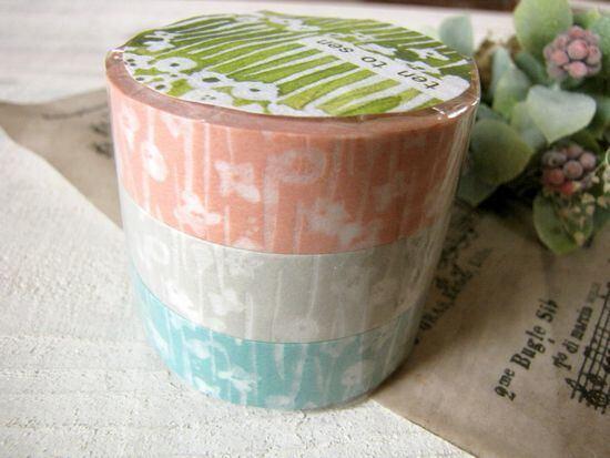 マスキングテープ*北の模様帖・小さな花/セレクト雑貨