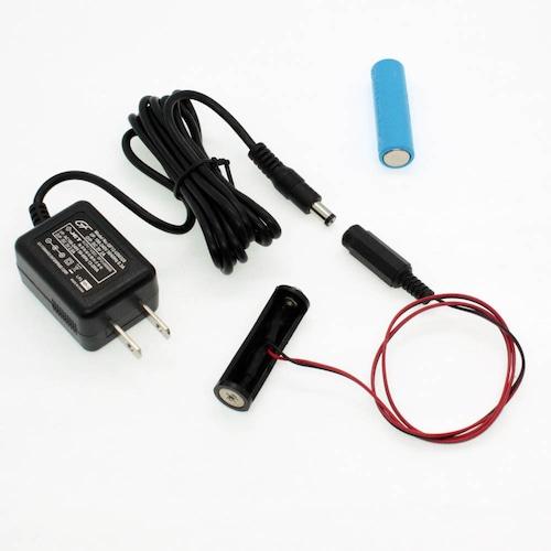 単3電池×2本用 ACアダプター接続ケーブル 50cmセット品 [AABAT-2-50cm-SET]