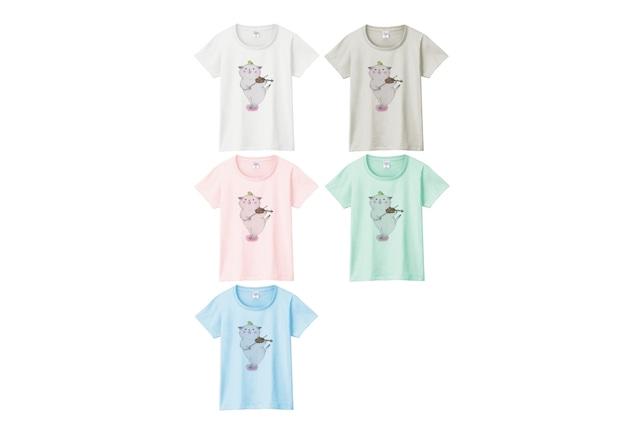 バイオリン猫のTシャツ