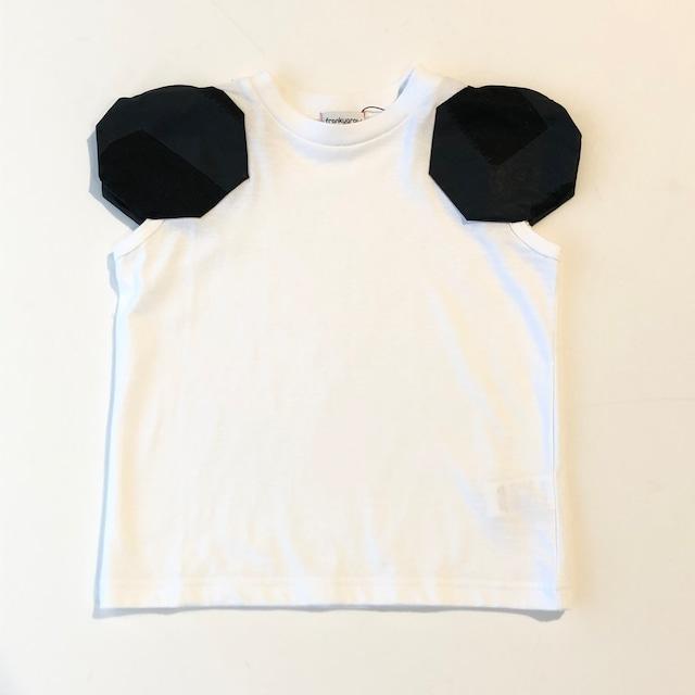 【21SS】フランキーグロウ ( frankygrow ) DISTORTED CIRCLR SLEEVE TEE[ LL ]white‐black×BK Tシャツ トップス