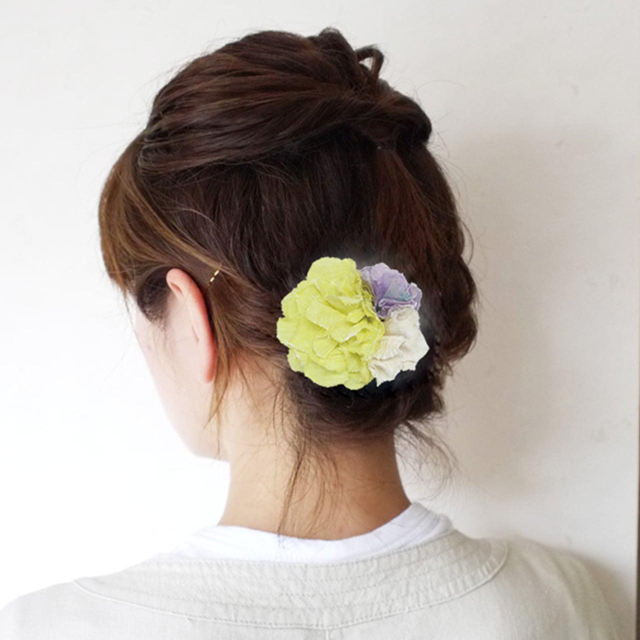 麻のコサージュ 〈Bouquet〉Yellow