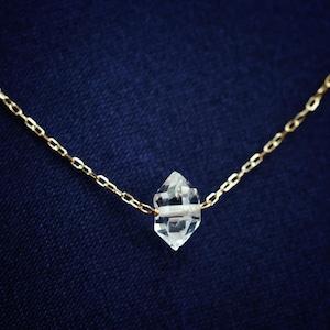 ハーキマーダイヤモンド K18 ネックレス ~夢実現~