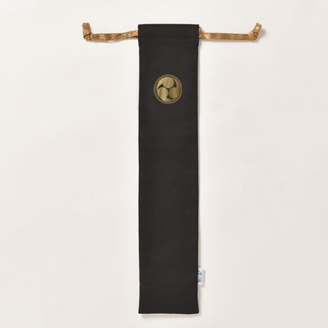 バチ入れ 黒×金巴 綿【日本製】 太鼓衣装