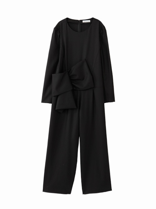 Ribbon overalls  / black / W15DR01