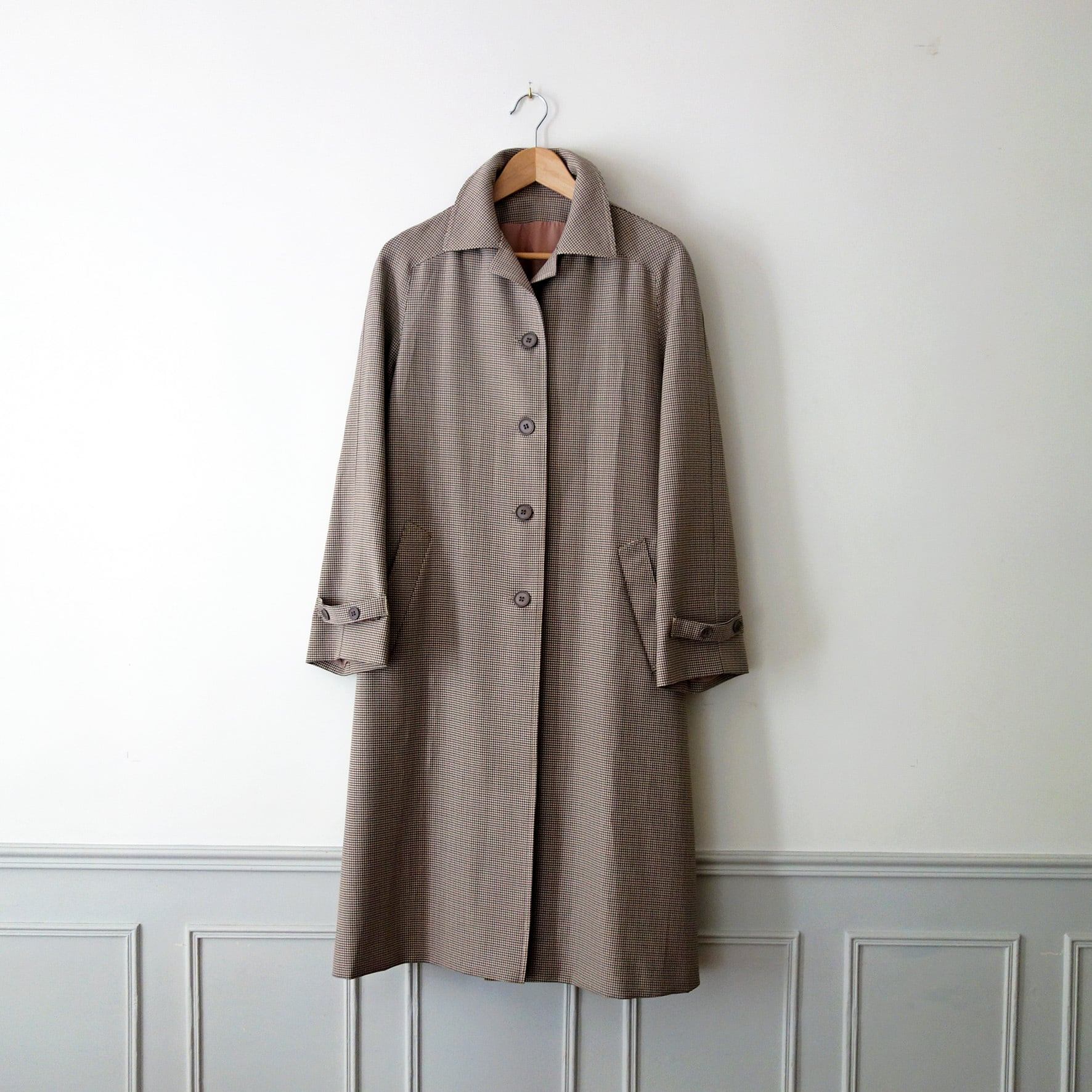 """【MADE IN FRANCE】ガンクラブチェックコート""""IMPERMEABLE A CARREAUX"""""""