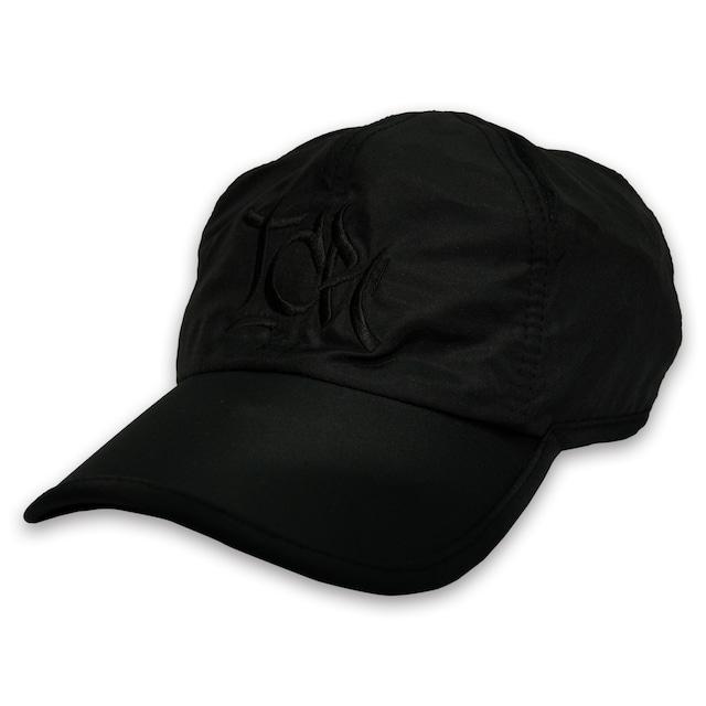 T.C.R BIG LOGO SPORTS SHELL CAP - BLACK/BLACK