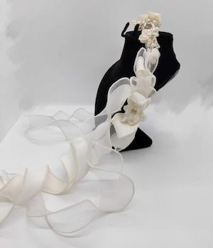 フリルコサージュヘッドドレス