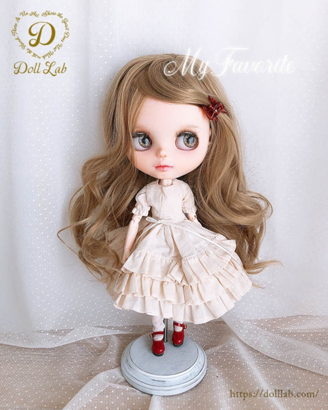DWL014-A009-10inアリスシフォン[10inch]マロン 髪なしブライス ドール ウィッグ