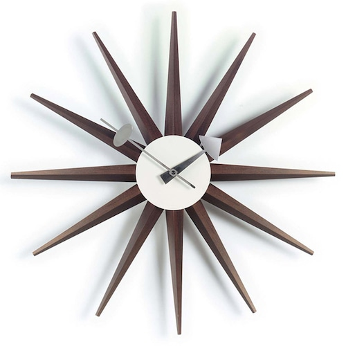 Vitra(ヴィトラ) Sunburst Clock(サンバーストクロック) ウォールナット