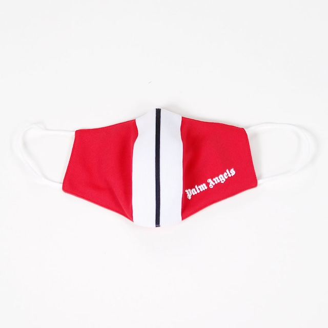 PALM ANGELS Classic Track Mask Red/White