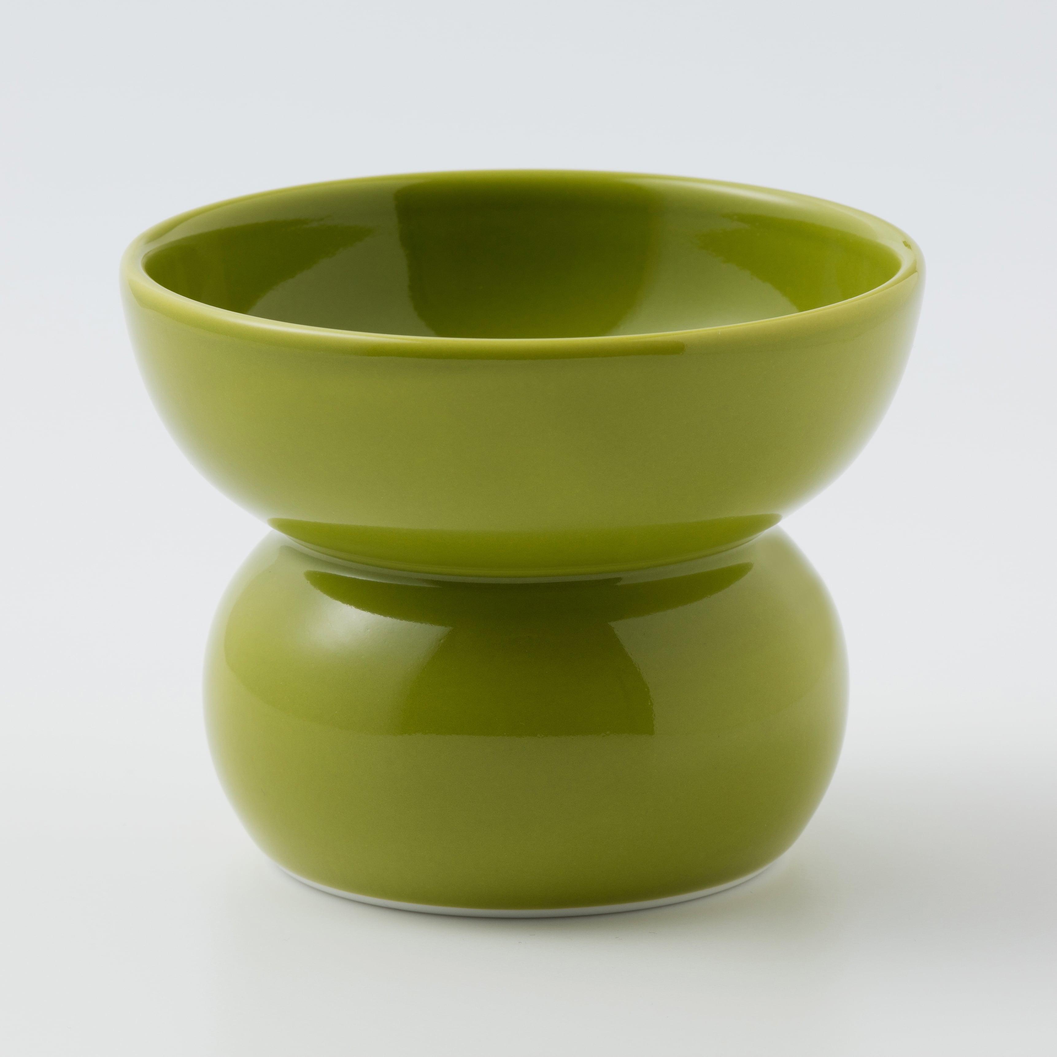 有田焼【まどか】ハイタイプ(フード用) 翠(みどり) 製造:アリタポーセリンラボ