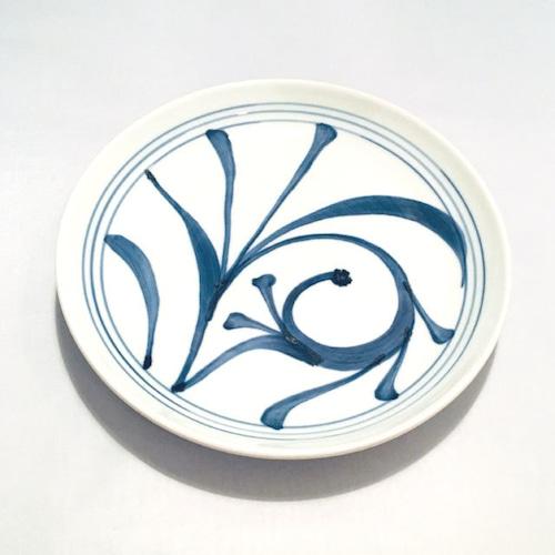 【砥部焼/梅山窯】7寸丸皿・切立(一つ唐草)