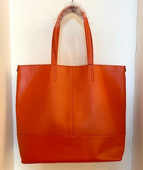 Leather Tote Bag Orange