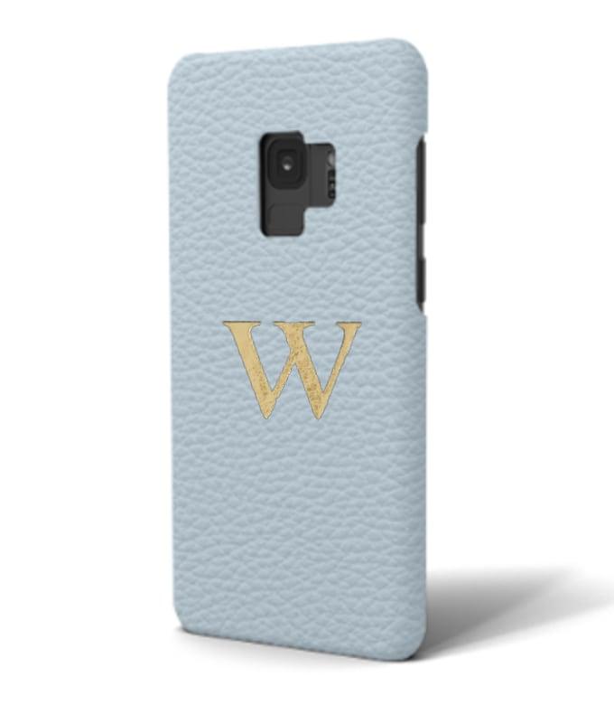 Galaxy Premium Shrink Leather Case (Sky Blue)