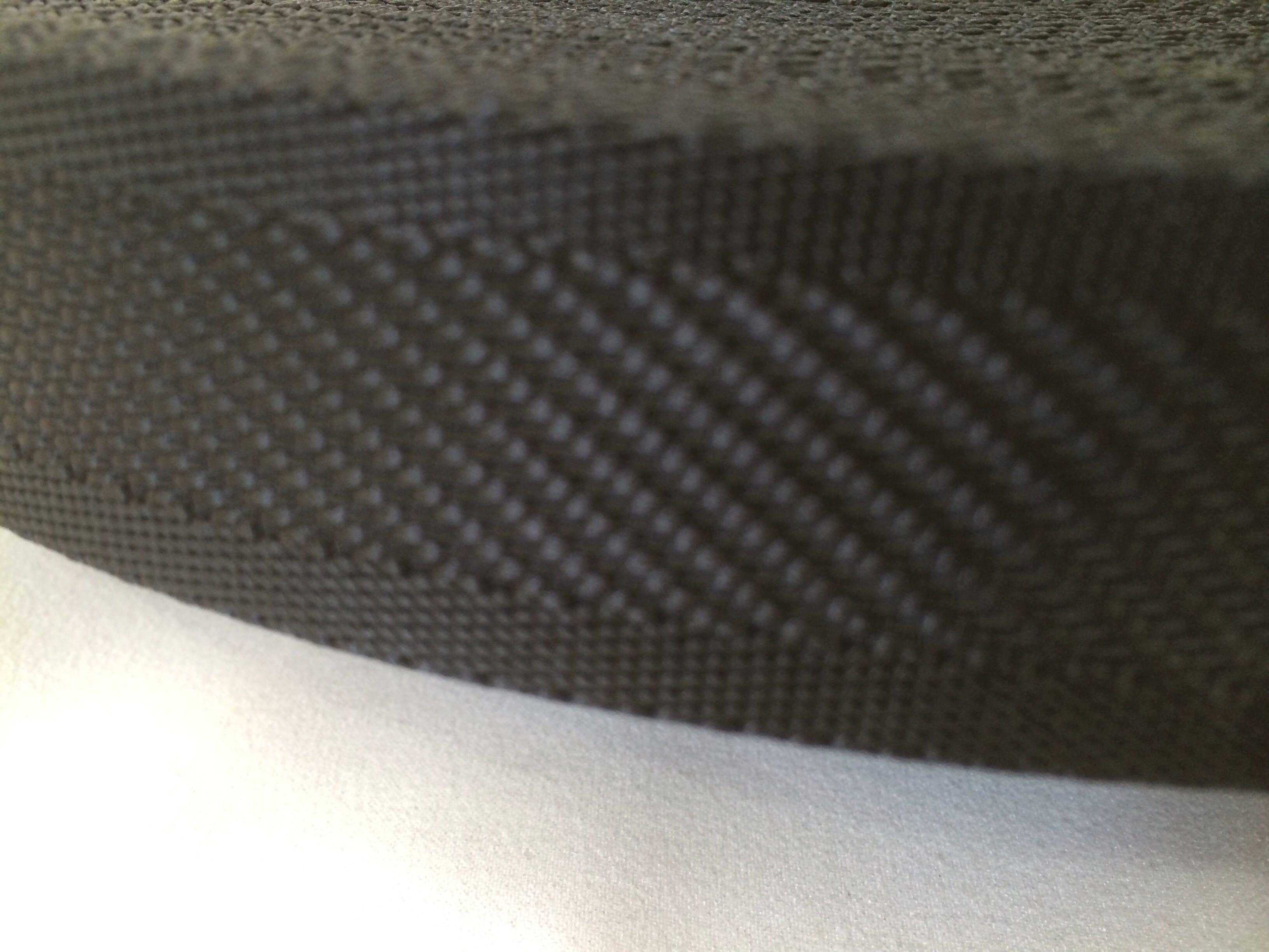 ナイロンテープ  中綾織  38mm幅  1.5mm厚  黒 5m