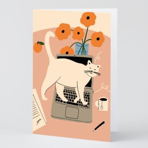 WRAP / Stop Working ART CARD -Artwork by Karl-Joel Larsson-