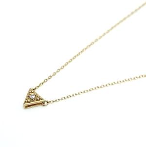 G_Pyramid Necklace_Dia - K18YG,Dia