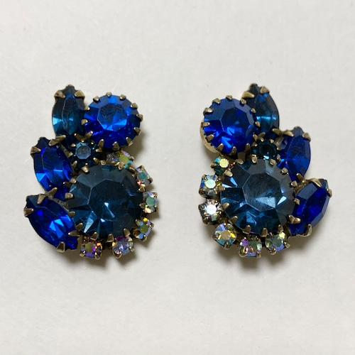 Vintage Deep Blue Bijoux Earrings