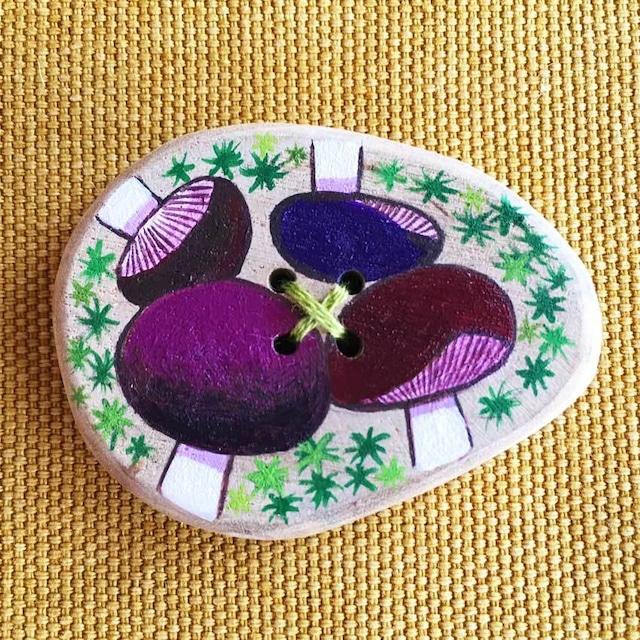 【富良野 森の贈り物】森のきのこの飾りボタン9