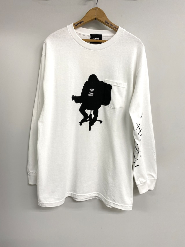 TODAY edition / acoustics LS T-SHIRTS(WHITE)
