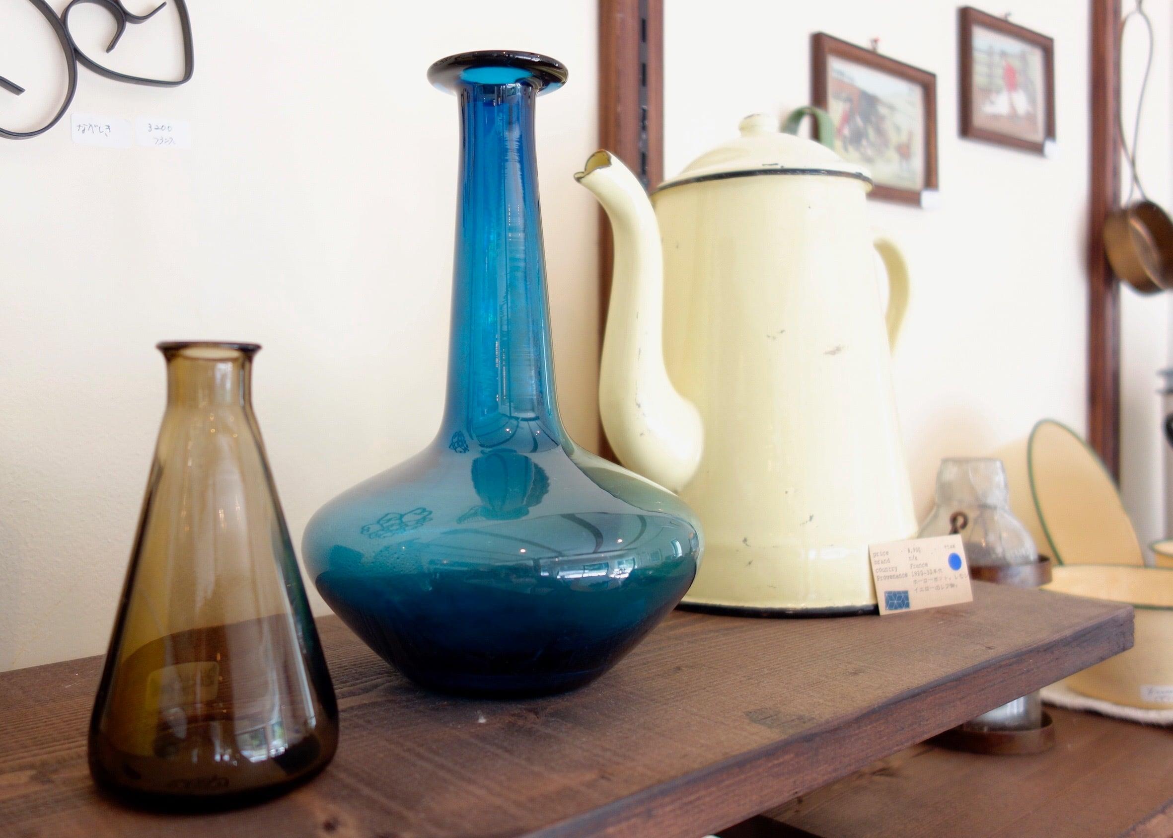 北欧ビンテージ 碧色の花瓶