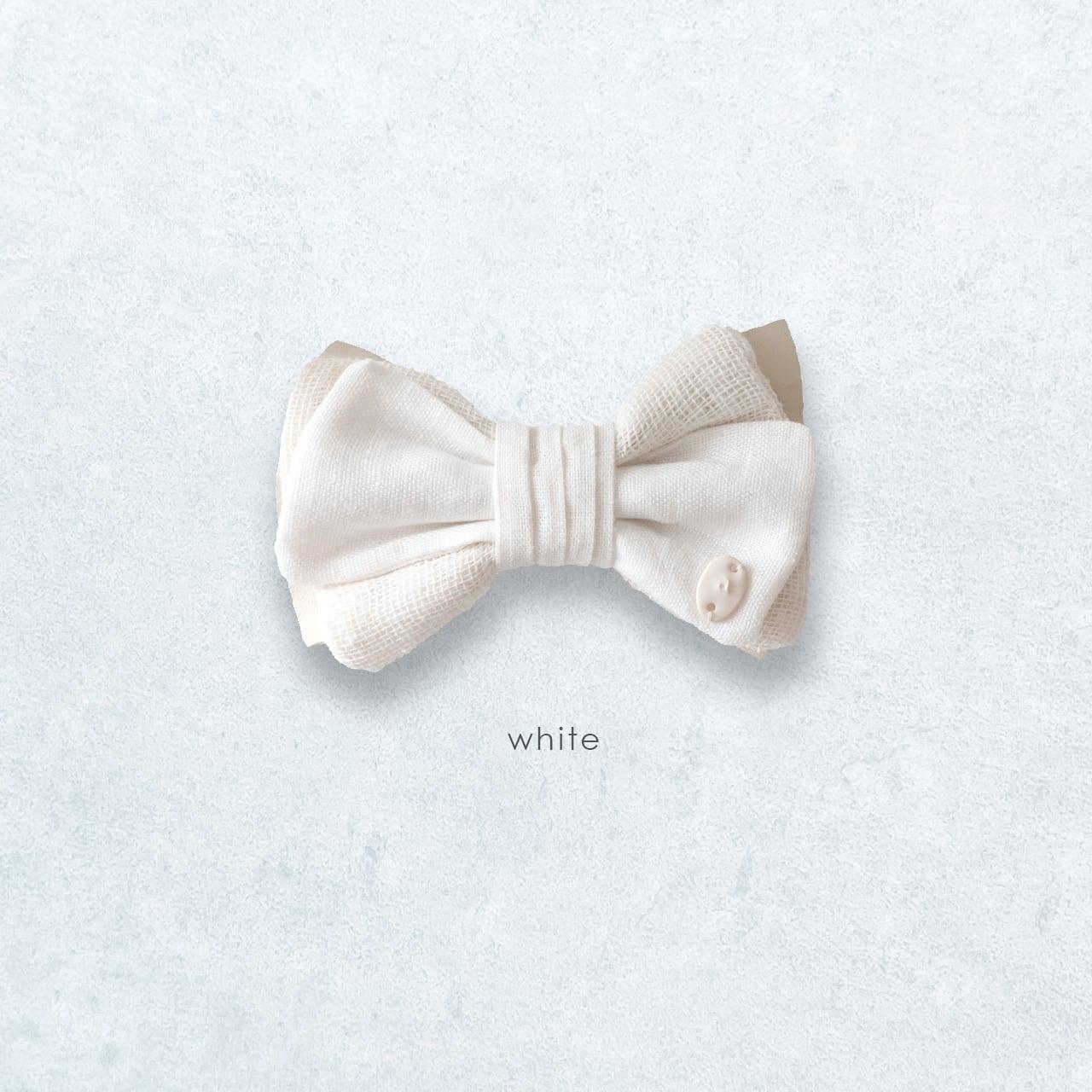 ナチュラル感が新鮮 麻の蝶ネクタイ 〈 BowTie 〉White