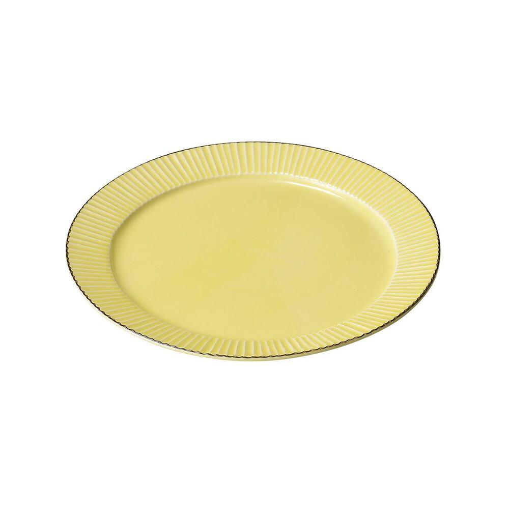 aito製作所 「ティント Tint」プレート 皿 L 約24cm イエロー 美濃焼 289003