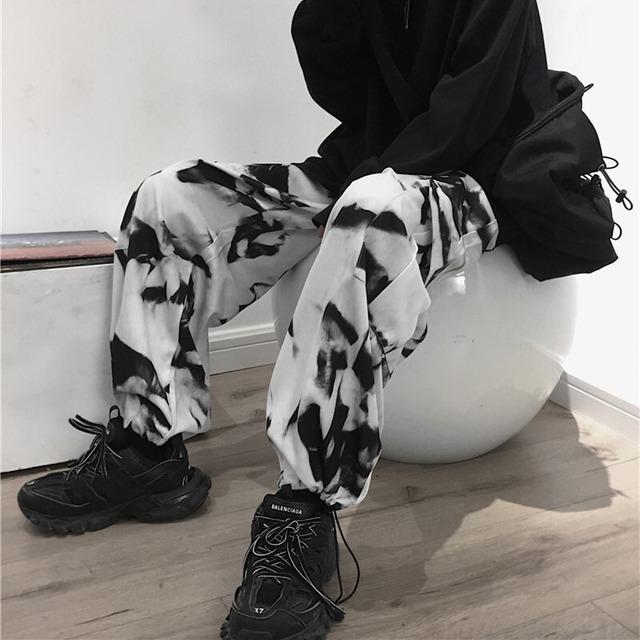 【ボトムス】韓国系ジーンズレトロカジュアルガウチョパンツカジュアルパンツ42909117