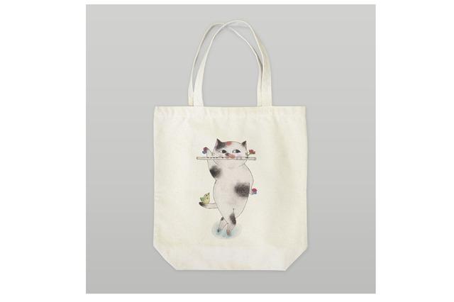 フルート猫のトートバッグ
