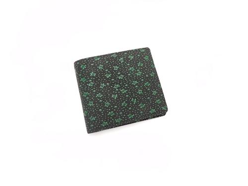札入(小銭入付) 黒/緑 海亀柄