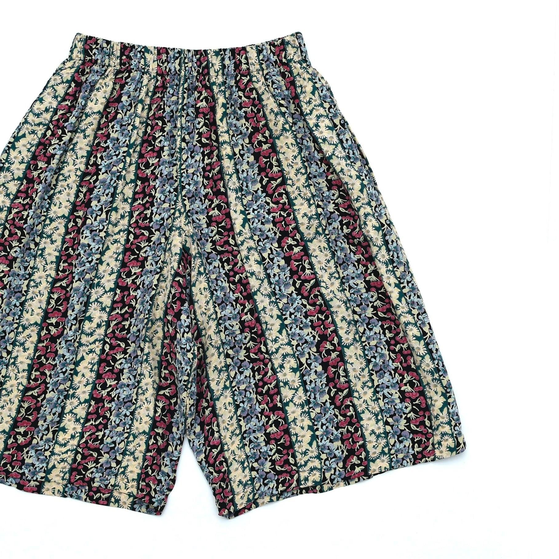 90's m.j.carroll stripe rayon shorts Made in USA