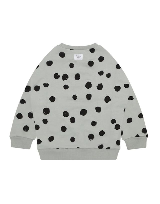 Another Fox / Sea Green Spot Kids Sweatshirt 1-2y〜7-8y ※メール便1点までOK