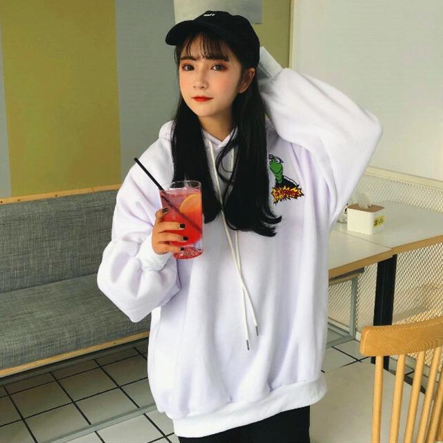【トップス】韓国系長袖フード付きプルオーバーカートゥーンパーカー25968779