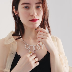 NECKLACE || 【通常商品】 GEOMETRIC NECKLACE (WHITE) || 1 NECKLACE || WHITE || FBA048
