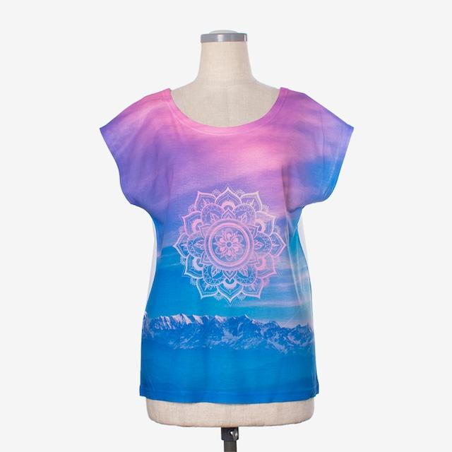 ヨガプリントTシャツ マンダラ5 Yoga print T-shirt Mandala5