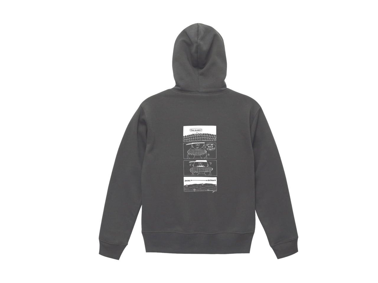 SHI × coguchi Corn SD hoodie (SMT/WH)