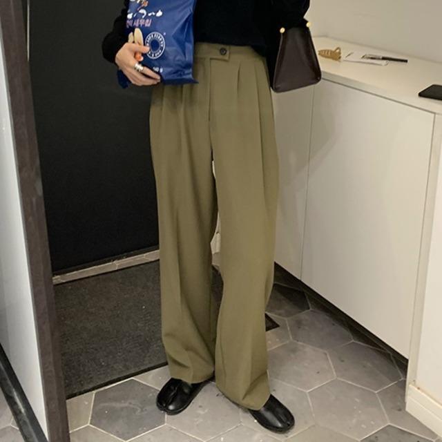 Men's-like wide suit pants(メンズライクワイドスーツパンツ)b-429