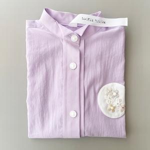 Shizen Designコラボレーションシャツ <パープル紫陽花>