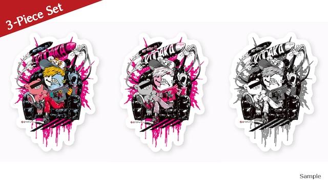 [10% OFF, 3-piece set] Collaborative Sticker by Kazutaka Kodaka (Tookyo Games) and jbstyle.