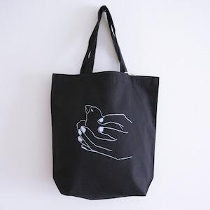 「文鳥を握る手(やさしく)」:コットンバッグ