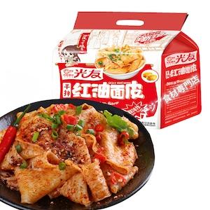 【常温便】光友红油面皮酸辣味(5连包)