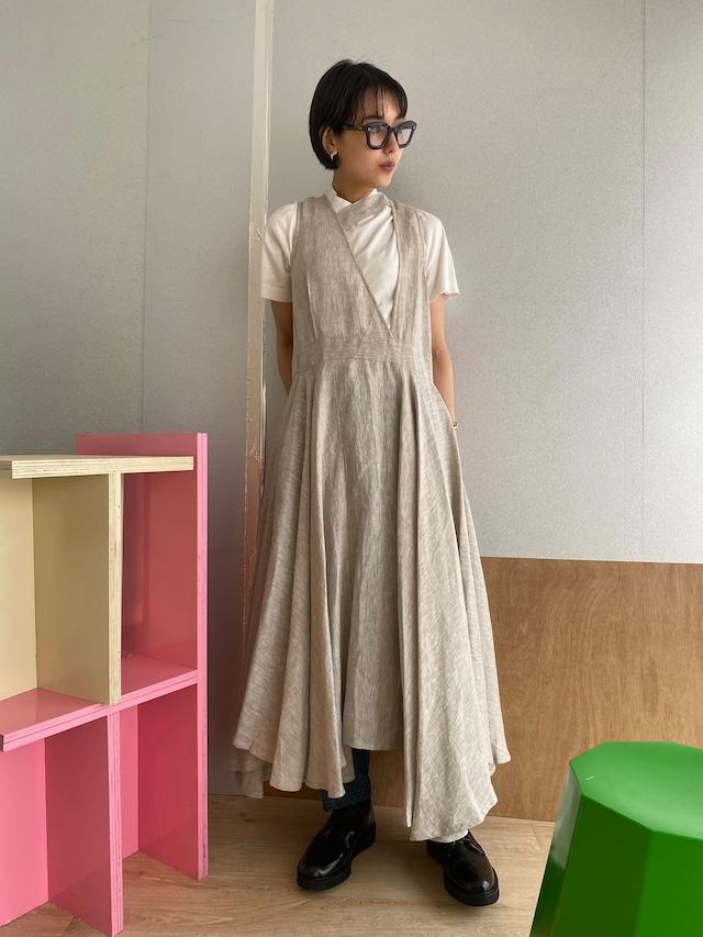 "Wrapped  long dress ""natural"" linen"
