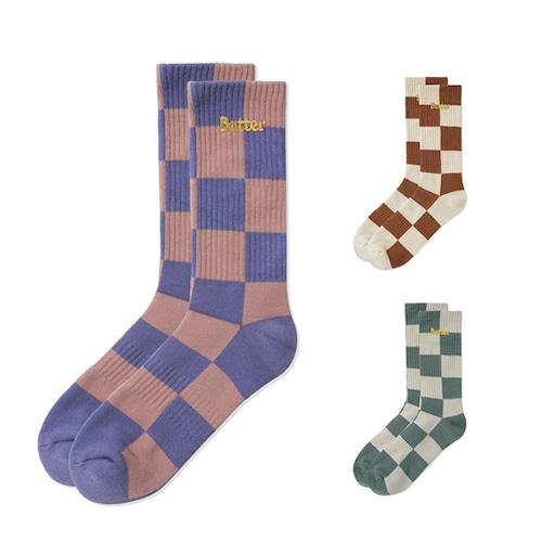 BUTTERGOODS|Checkered Socks