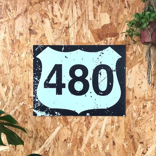 トラフィックサインボード 「480」