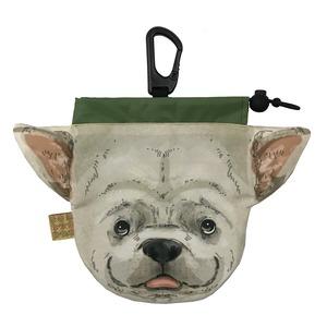 犬のウンチバッグ M【フレンチブル】(ベージュ色) 防臭生地 / デオドラント加工布使用