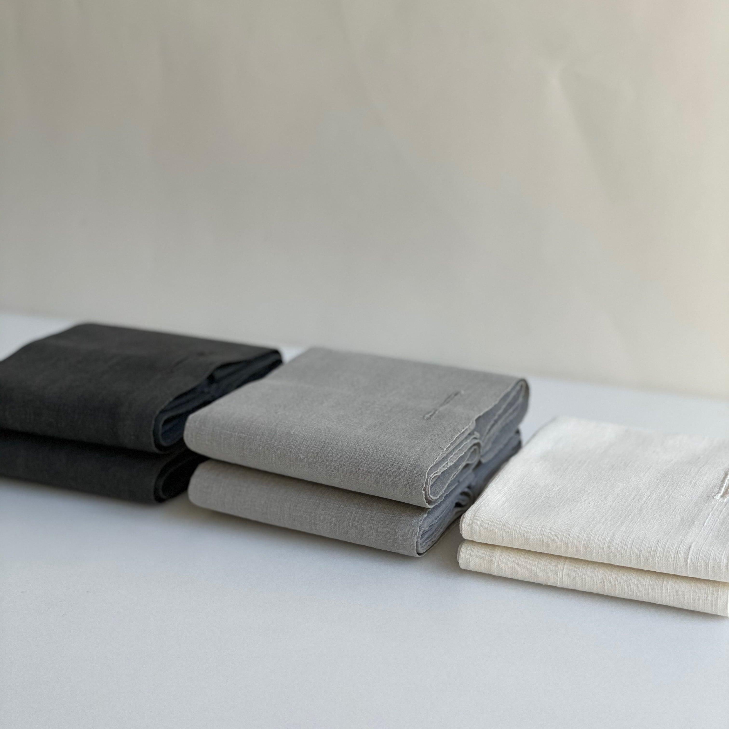 石井すみ子   手織り綿布巾  白布