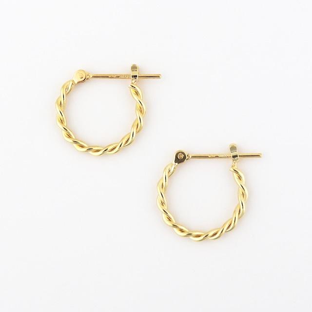 Twist hoop pierce