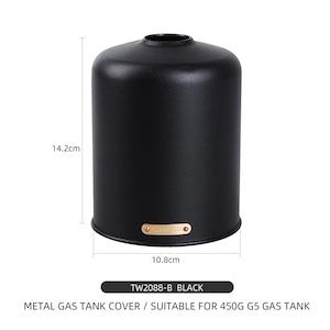 【CAMP GEAR】ヴィンテージ メタル OD缶 ガスカートリッジカバー アルミ レトロ【450g用/5colors】GC-A0156