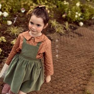 【即納】elysian golden  skirt   pour enfant(アンファン コーデュロイエプロンスカート)